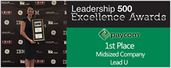 Paycom Places First at the 2015 Leadership 500 Excellence Awards