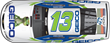 Artist Rendering of Fallen EOD Warriors displayed on #13 GEICO car driven by Casey Mears.