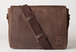 Navali Leather Mainstay Messenger Bag in Brown