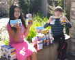 Jared and his sister Destiny collect food for Got Your Back San Diego. Jared has a profound sense of fairness and justice, which experts attribute to some forms of autism spectrum disorder.