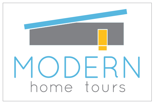 Classic mid century and modern homes open their doors in for Modern house logo