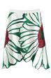 Irregular Hemline Skirt,  Floral Skirt, White Skirt, Midi Skirt