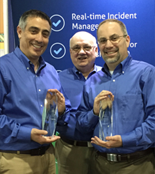 Strategic BCP's VP of consulting Christopher Duffy (left) and president Frank Perlmutter (right) with their BCI awards at DRJ Spring World 2015 in Orlando.