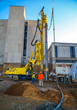 Drilling immediately adjacent to the existing Quincy Blessing Hospital building with state-of-the-art German drilling system.