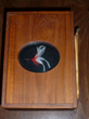 Book of the Tarpon in hand carved wood box surmounted with lure