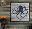 Framed Rustic Deep Sea Octopus
