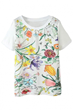 Wonder World Tee, Floral-Print Tee, Short Sleeves Tee