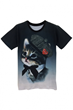 Lovely Graphic Tee, Cat Tee, Black Tee, Short Sleeves Tee