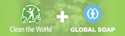 Logos from Clean the World and Global Soap