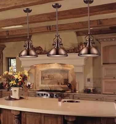 Copper top kitchen island