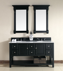 Urban South Hampton 60″ Double Vanity 925-V60D-AQB-GWH in Antique Black from James Martin Furniture