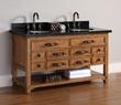James Martin Solid Wood 60″ Malibu Double Bathroom Vanity 500-V60D-HON
