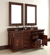 Continental 72″ Double Bathroom Vanity In Burnished Cherry 100-V72-BCH from James Martin Furniture