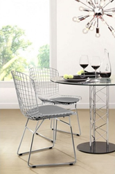Wire Dining Chair 188000 in Chrome from Zuo Modern