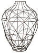 Large Russet Wire Vessel 594014 from Lazy Susan