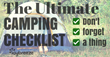 Camping Checklist Reduces Time Spent Planning