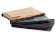 MacBook Travel Express—tan waxed canvas, blue faux leather, black ballistic nylon