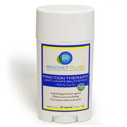 Rocket Pure's new all natural anti-chafe balm stick is on sale now at RocketPure.com and on Amazon.