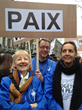 "Youth for Human Rights Brussels and their supporters participated in ""Together in Peace,"" a march through the heart of Brussels to promote peace, and mutual respect."