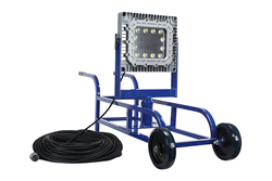 Explosion Proof LED Cart Light that provides 10,000 Square Feet of Work Area Illumination