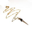 Gold Spike Necklace as seen at GBK's 2015 Golden Globes Gift Lounge