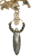 Wire Wrapped Pyrite and Gold Filled Necklace by Delia's Delight Jewelry, as gifted at GBK's 2015 Golden Globes Luxury Celebrity Gift Lounge.
