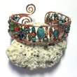 Copper Wire Beaded Cuff