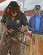 Chainsaw carving demonstration at the Fox Chapel Publishing Open House & Woodworking Show.