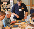 Woodcarving class at the Fox Chapel Publishing Open House & Woodworking Show.