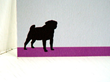 Pug Personalized Notecards from Pet Silhouette Collection