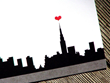 I Love New York City Personalized Thank You Notes with Red Heart