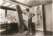 Dr. Seuss at his Easel