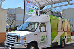 The Holiday Inn Westbury - Long Island responds to their guests needs and wants with the the purchase of a new 14 passenger shuttle bus.