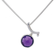 Voyage Rio Ring/Pendant by Elena Kriegner. Sterling silver, 5.1ct. Amethyst and Diamonds