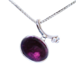 Voyage Chicago Ring/Pendant by Elena Kriegner. 18K White Gold, 18ct. Pink Tourmaline, and Diamonds