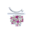 Voyage Hawaii Ring/Pendant by Elena Kriegner. Sterling Silver, Pink Sapphires and Diamonds