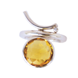 Voyage Rio Ring/Pendant by Elena Kriegner. Sterling silver, 4.8ct. Citrine and Diamonds