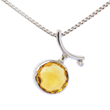 Voyage Rio Ring/Pendant by Elena Kriegner. Sterling silver, 4.8ct. Citrine and Diamond