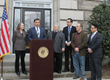 L-R: Village of Ossining Mayor Victoria Gearity, incoming Village Manager Abraham Zambrano, Trustee Robert Daraio, Trustee Omar Herrera, Trustee John Codman III, and Trustee Manuel Quezada