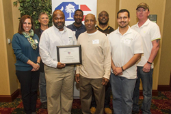 Spirax Sarco presented a Commendation of Excellent award by the South Carolina Chamber of Commerce