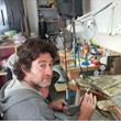 Ari Kuperman in his studio