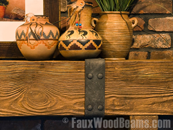 Real wood mantels add style and character to any room.