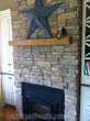 Barn Board real wood mantels are a great way to bring a rustic look to any room.