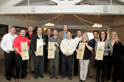 Industrial Hydraulics, F&M Mafco, Cargo Services Inc., Scott Industrial Systems, and Grainger were awarded the Wood-Mizer CREST Award for 2014.