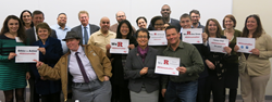 Graduates of the Spring 2015 Executive Leadership Certificate Program at the Rutgers Institute for Ethical Leadership.