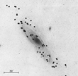 Fig. 2. Gases filling up galaxies are visible via telescopes