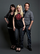 "Her Universe Founder, Ashley Eckstein (center) with the winners of last year's first-ever Her Universe ""Geek Couture"" Fashion Show - Amy Beth Christenson (left) and Andrew MacLaine."