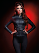Part of the Marvel by Her Universe collection designed by last year's fashion show winner, Andrew MacLaine, with Her Universe, is this Black Widow Belted Jacket available next month at Hot Topic.