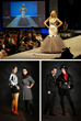 """Above: Ashley Eckstein on stage at last year's fashion show. Bottom left: Last year's """"Judges Winner,"""" Amy Beth Christenson and, right, last year's """"Audience Winner"""" Andrew MacLaine."""
