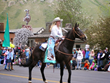 "One of the few remaining ""horse-drawn"" parades in the U.S. takes place on May 23, 2015, around the Jackson Town Square during Jackson Hole's four-day Old West Days event."